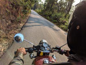 Cherokee County man riding his motorcycle