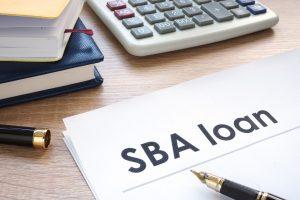 calculator and sba loan paper